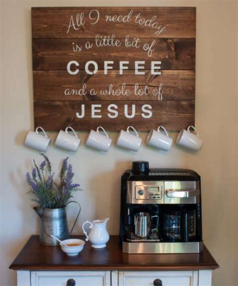 Kitchen Cabinet Decorating Ideas 25 diy coffee bar ideas for your home stunning pictures