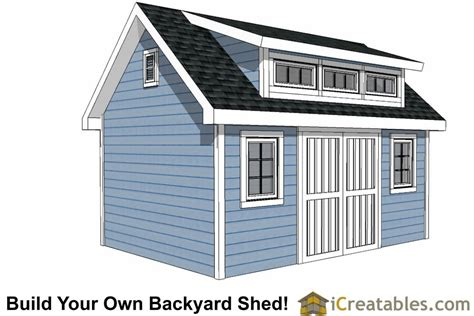 10x16 Shed Plans Free by 10x16 Shed Plans With Dormer Icreatables