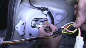 installation of a trailer wiring harness on a 2011 toyota