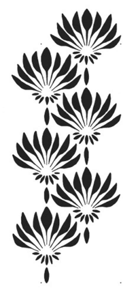 easy pattern stencil designs fan flower art deco pattern wall stencil reusable easy