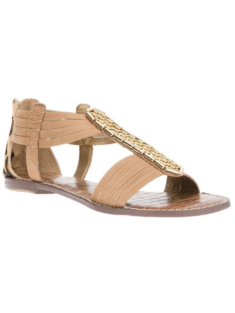 sam edelman gold sandals sam edelman gatsby sandal in gold lyst