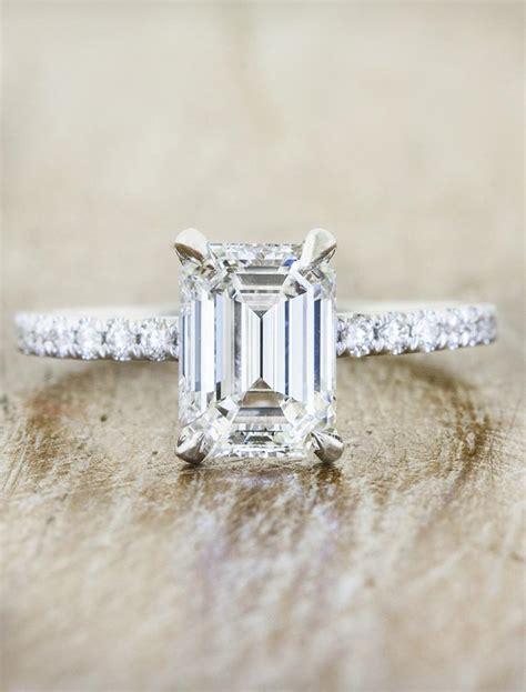 sybil classic emerald cut diamond engagement ring ken