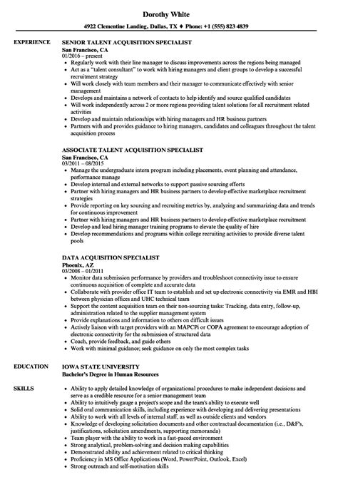 Acquisition Program Manager Sle Resume by Acquisition Specialist Resume Sles Velvet