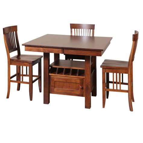 Cafe Gathering Table Home Envy Furnishings Solid Wood Canadian Made Dining Room Furniture