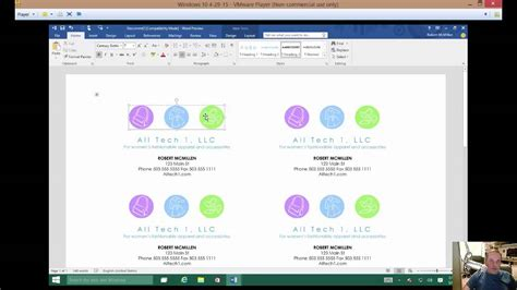 How To Make Business Cards In Word 2016 how to make a business card in microsoft word 2016