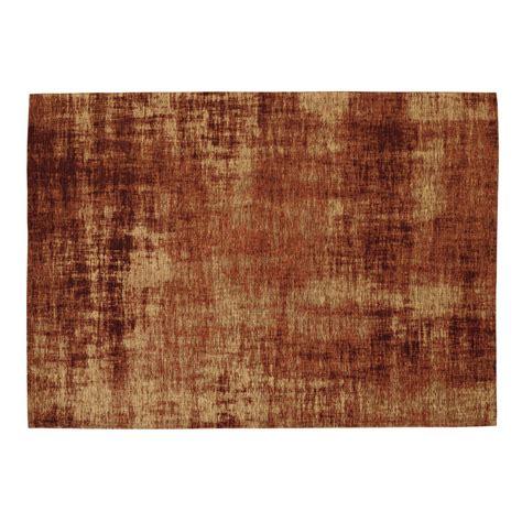 tappeto arancione tappeto arancione terracotta in cotone 140 x 200 cm feel