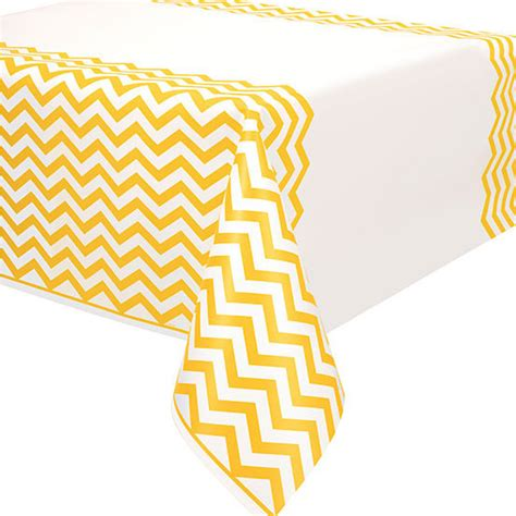 Chevron Cover by Yellow Chevron Plastic Table Cover Rectangle
