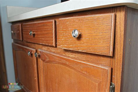 Gel Stain Oak Cabinets Before How To Use Gel Stain On Cabinets The The Bad