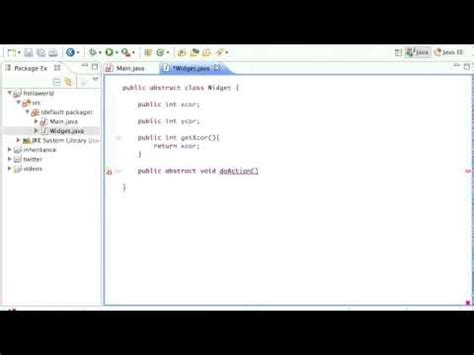 java abstract pattern exle java abstract classes tutorial youtube