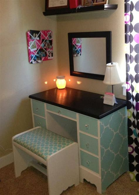 Diy Desk Vanity A Desk Vanity For A Sjm Furniture Rooms Pinterest Turquoise Pattern