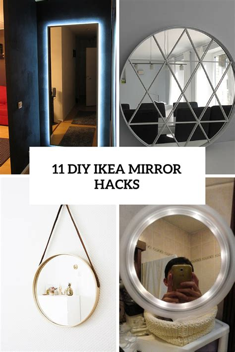 Lighted Vanity Wall Mirror 11 Beautiful Diy Ikea Mirrors Hacks To Try Shelterness