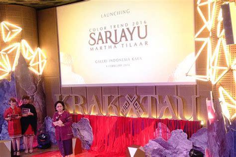 Lipstik Sariayu Inspirasi Krakatau krakatau inspirasi tren warna 2016 sariayu martha