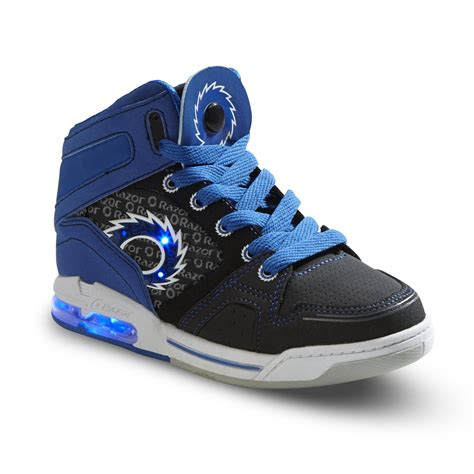 best athletic shoes for boys razor boy s hi top light up athletic shoe black blue