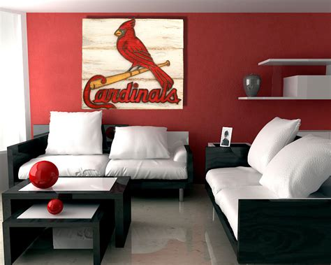 louis cardinals handmade distressed wood sign