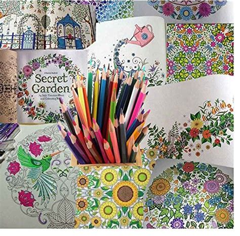 secret garden coloring book best markers hxytech 36 colored pencils for coloring books