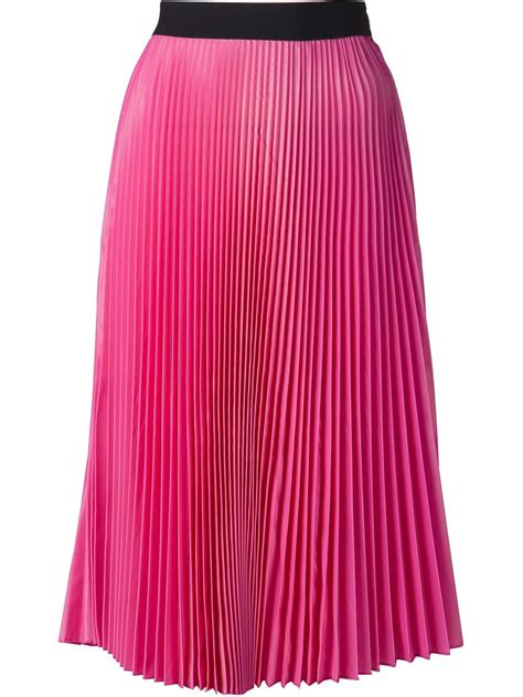 tome pleated skirt in purple pink purple lyst