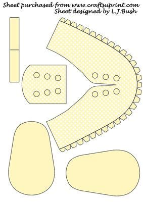 baby booties templates cards beautiful 3d baby shoe keepsake cup127769 651