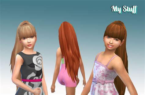 barbies stuffs hairstyles sims 4 hairs my sims 4 blog ariana ponytail hair for girls by kiara24