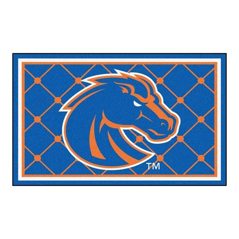 State Rug by Fanmats Boise State 4 Ft X 6 Ft Area Rug 6795