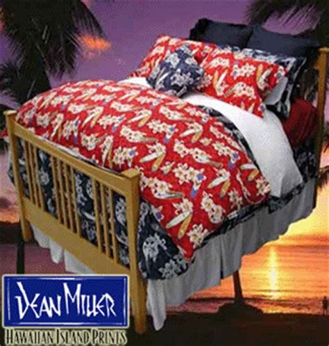dean miller bedding the surfline holiday gift guide hawaiian print bedding