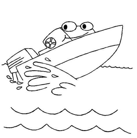 speedboot kleurplaat boot kleurplaten speedboot