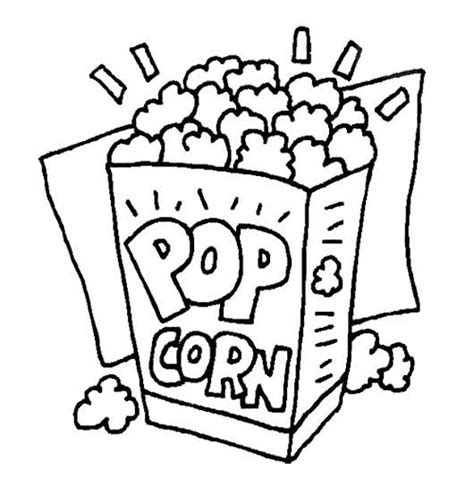 how to color popcorn popcorn box coloring page sketch coloring page