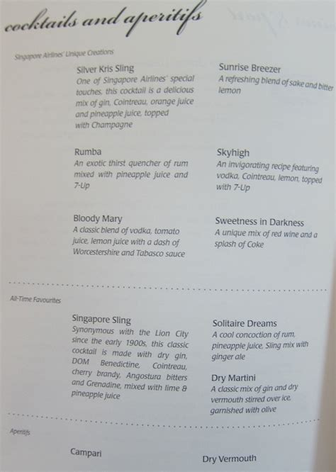 singapore airlines new year menu review singapore airlines business class bangkok to