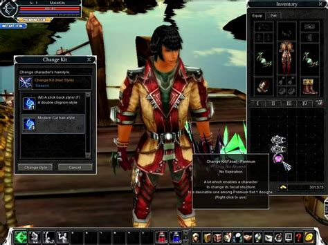 Cabal Hair Style Kit cabal change kit hairstyle and premium