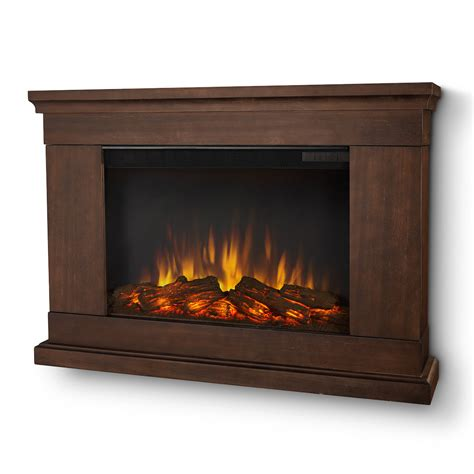 real jackson slim line wall hung electric fireplace