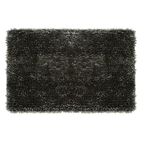 27 X 45 Bath Rug Jean Mega Butter Chenille 27 In X 45 In Bath Mat In Charcoal Ymb006511 The Home Depot
