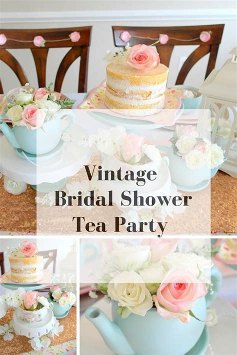 Intimate Bridal Shower Ideas by Chic Bridal Showers Tea And Vintage On