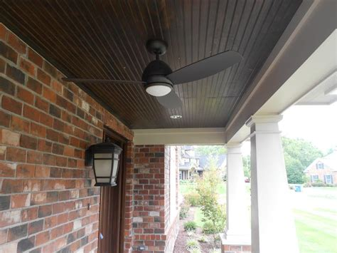 Stained Porch Ceiling by 8 Stained Pine Porch Ceiling With Hardie Porch Beam