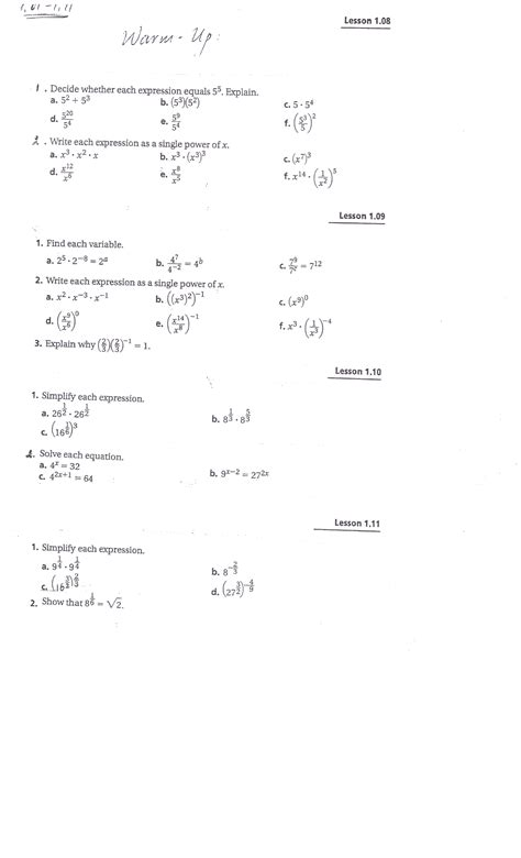 Integrated Math Worksheets by Uncategorized Integrated Math 1 Worksheets