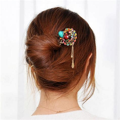 hair barrettes clips women crystal hairclips barrette hair accessories vintage hair clips women crystal diamond flower hairpins