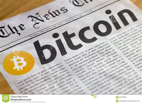 bitcoin latest news bitcoin the new currency online stock photo image 66159590
