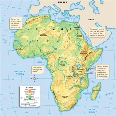 africa map geographical features africa geography map thinglink