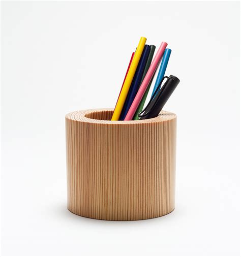 Pen Stand For Desk by Penpot Wooden Pencil Holder
