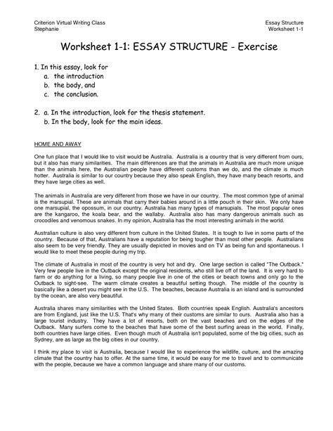 Of The Author As A Post Structuralist Essay by 8 Best Images Of Writing A Thesis Statement Worksheet Thesis Statement Exles Thesis