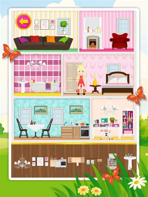 doll house decorating   game  children review