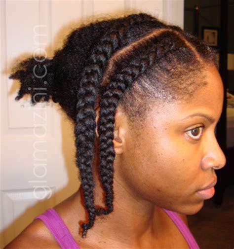 cornrows with hair out in back pre braidout cornrows glamazini com