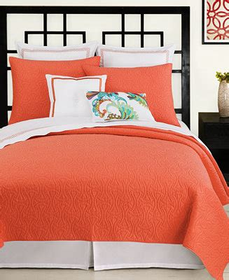 bed bath and beyond almaden macy s bed linens closeout trina turk santorini coral
