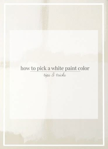 How To Pick White Paint | how to pick white paint rooms for rent blog