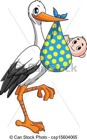 clipart neonato clipart vettoriali di cicogna neonato bambino cicogna