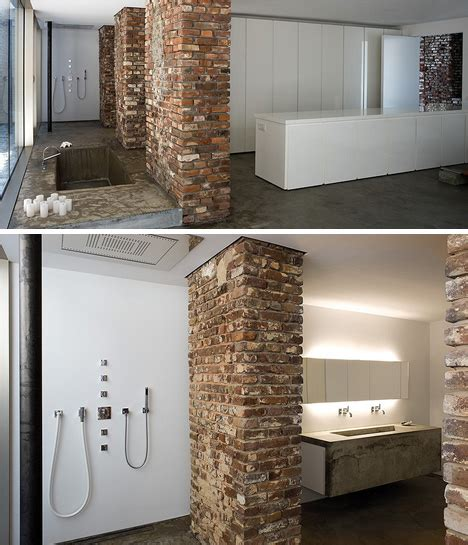 warehouse bathrooms stunning street level loft in a brick concrete warehouse