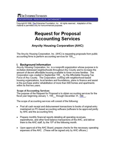 request for proposal accounting services enterprise