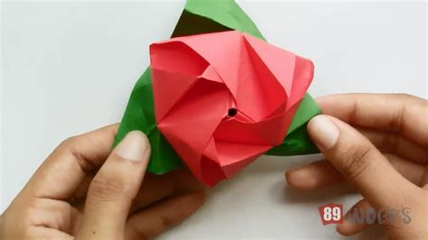 Working Origami - origami paper works flower cube works 03