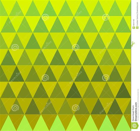 yellow pattern vector seamless triangle green and yellow pattern stock
