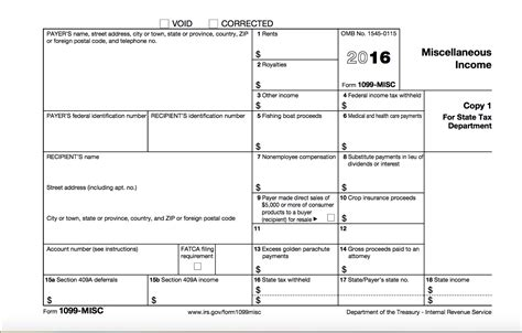 1099 misc form template what is a 1099 misc tax form choice image form exle ideas