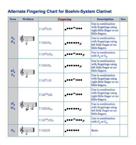 clarinet chart 16 clarinet chart templates free