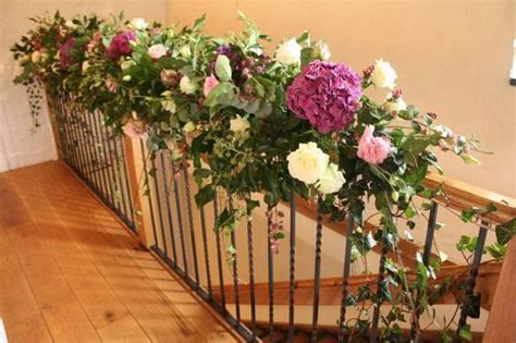 banisters flowers 24 best railing wedding decour images on